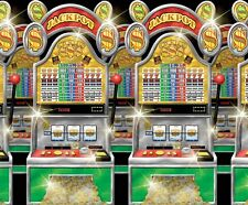 40ft Slot Machine Room Roll Scene Setter Vegas Casino Party Prop Wall Decoration