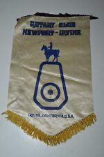 Vintage Newport Irvine CA Rotary Club International Flag Wall Banner Rare