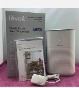 Levoit Desktop True HEPA Air Purifier: 3-Stage Filteration, White (LV-H128) New