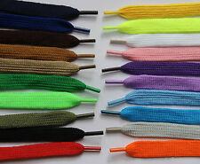 1 Pair Flat 110cm*x 10mm Shoelaces 20+ Colours  Boots Trainer Skate Shoe Laces