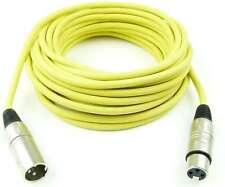 10 m cables del micrófono amarillo XLR male en XLR female-DMX cables del micrófono Adam Hall