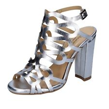 scarpe donna SHOEMAKER 41 EU sandali argento pelle BS67-41