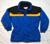 Columbia Mens Blue Colorblock Long Winter Ski Parka Jacket Sz Large