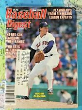 Vintage 1986 August Baseball Digest Roger Clemens Boston Red Sox Magazine