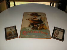 Vintage Ralston Ceresota Flour Tin Sign with 2 small pictures framed