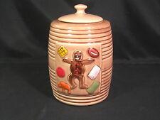 Vintage Beehive Gingerbread Man Cookie Jar with Lid