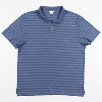 Calvin Klein Polo Golf Shirt Striped Blue Mens Size XXL Mercerized Cotton