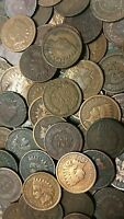Old 1800's to 1900's Indian Cents Collection - Ten Very Old Indian Cents !!