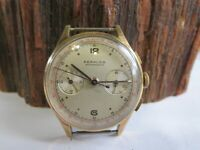 FORMIDA CHRONOGRAPH MANUAL ROSE GOLD 36MM MENS SWISS MADE VINTAGE WATCH RP24