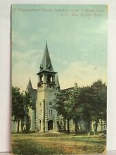PostCard St. Congregational Church In Iowa Posted 4-14-1908 Germany Vintage