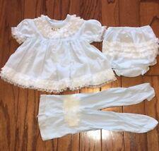 Vintage 80s JC Penney Toddler Time 9 Months 3pc Dress Set