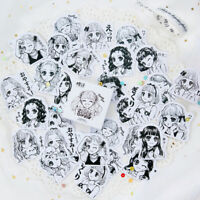 45pcs/box Little Sister Paper Label Stickers DIY Scrapbooking Album Stickers GV