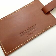 Wyler Geneve Leather Luggage Tag Card Holder Cardholder Code R Incaflex Flieger