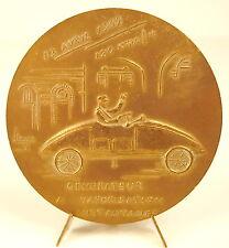 Medaille au pionnier de l'automobile Léon Serpollet 1902 : 120 hm/h car medal