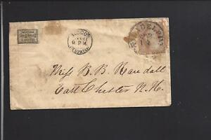 PHILADELPHIA,PENNSYLVANIA, #26 S.O.N. CANCEL,COVER WITH BLOODS DESPATCH,&STAMP.