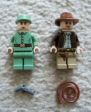 LEGO Indiana Jones - Rare - Indiana w/ Whip & Russian Soldier w/ Gun - Excellent