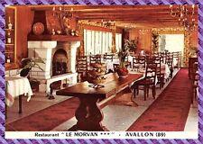 tarjeta postal AVALLON, restaurantes el MORVAN