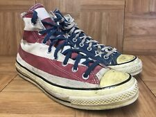 RARE🔥 Converse Chuck Taylor 70's Hi Top Stars And Bars USA FLAG Two Tone Sz 9