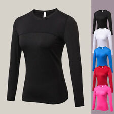 Women Pro Sports Long Sleeve Mesh T-Shirt Breathable Quick-dry Fitness Gym Tops