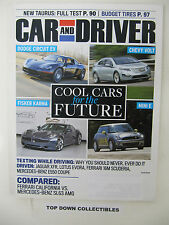 Car and Driver  Magazine   August  2009    Actors Voices In Car Commercials