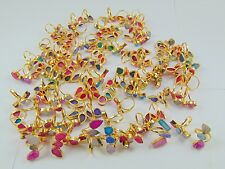 1000 GRAM 22K GOLD PLATED ROUGH SUGGAR DRUZY ALLOY RING OVERLAY 100 PCS LOT