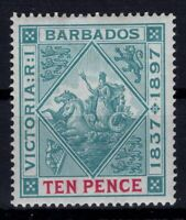 P133368/ BRITISH BARBADOS – SEAL OF COLONY – SG # 123 MINT MH – CV 95 $