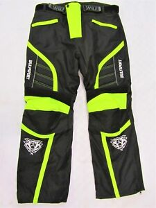 Wulfsport Alpina hi viz Adult Pants Armoured Winter Motorbike Motocross Medium