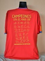 CAMISETA ESPAÑA FIRMADA ADIDAS XL MUNDIAL 2010 / SPAIN SHIRT WORLD CUP 2010 NEW