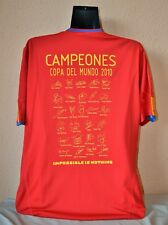 CAMISETA ESPAÑA FIRMADA ADIDAS XL MUNDIAL 2010 / SPAIN SHIRT WORLD CUP 2010 NEW