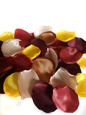Fall Wedding Flower Petals Burgundy Rust Yellow Champagne Party Decorations