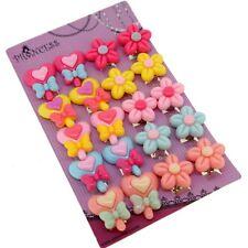 Cute Color Lollipop Flower Clip On Earrings Gift Set for Kids Teenage Teen Girls