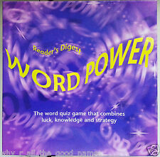2008 Reader's Digest WORD POWER Word Quiz Trivia Board Game  - Used & Complete