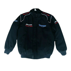 Triumph Men's Black Motorcycle Racing Jacket Size Small