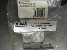 WAGO 750-975 ETHERNET RJ-45 Connector, IP20 Free Ship, NIB USA Seller