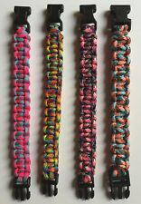Paracord Survival Bracelet 550 Parachute Cord Multi-Color Made in USA-Handmade
