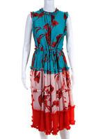 Ted Baker London Womens Camelis Sleeveless Dress Blue Pink Size 2 11385844