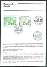 2007 ITALIA CATTEDRALE DI PARMA BOLLETTINO ILLUSTRATIVO CON ANNULLO FDC