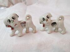 Vintage Japan porcelain pair Dogs Puppies