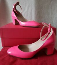 9bfe9255b79 New ListingValentino Garavani 36 Pink Fuchsia Patent Tango Ankle Strap  Pumps Black Low Heel