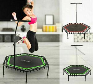 Fitness Trampolin Sport gelenkschonende Gummi-Seil Federung Belastbarkeit 220kg