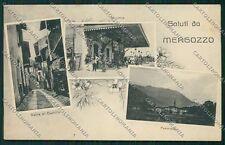 Novara Mergozzo Saluti da Stazione STRAPPO cartolina EE7650
