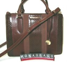Brahmin Small Camille Pecan Windsor Embossed Leather Satchel Bag NWT $375
