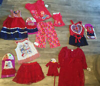NWT Dollie & Me Jumping Beans girls 5 6X 6 12 red white blue pink dress shorts