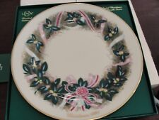 Lenox Colonial Christmas Wreath Plate 2001 South Carolina