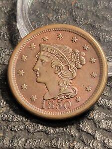 1850 Braided Hair Large Cent Choice BU