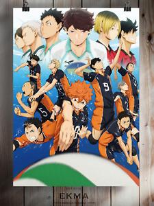 Haikyuu!! Anime Manga Poster Art Print Wall Decor  A3 A4 5x7 Satin Matt Gloss v2