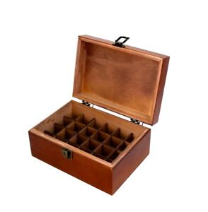 Essential oil wooden display  box case High Quality -free shipping - 24 slot