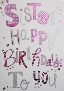 HAPPY BIRTHDAY CARD SISTER TOP QUALITY A11185/M1