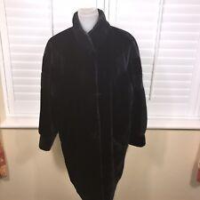 Vintage C&A Yessica Sz S 10 12 Black Faux Fur Coat Know Length Womens