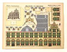Pellerin Imagerie D'Epinal- 1276 Maison Flamande Petite vintage paper model